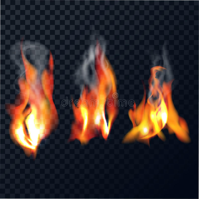 Reeks vlammen vector illustratie