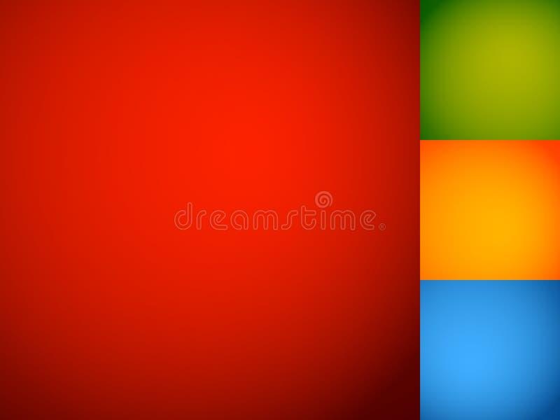 Reeks vlotte kleurrijke achtergronden/achtergronden met gemengd gradie vector illustratie
