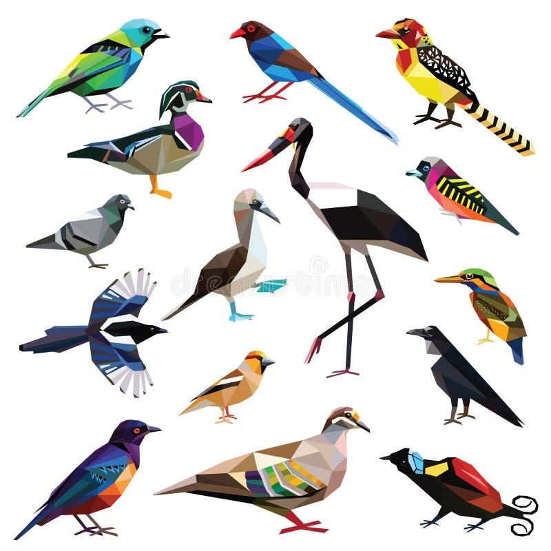 Reeks vogels royalty-vrije stock foto