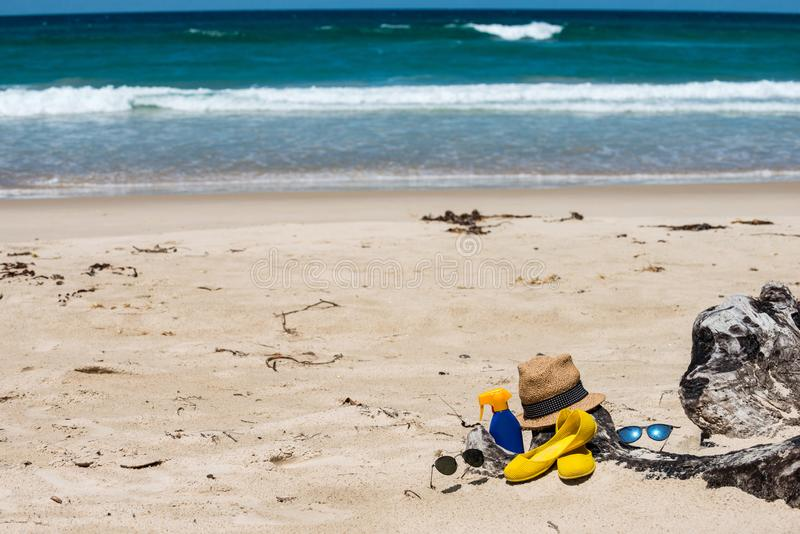Reeks voor een strand royalty-vrije stock fotografie