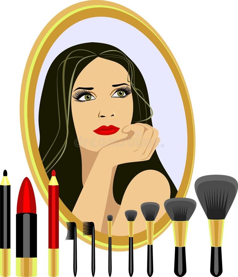Reeks voor make-up royalty-vrije illustratie