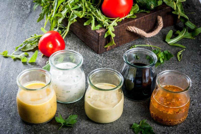 Reeks vullingen voor salade royalty-vrije stock foto's