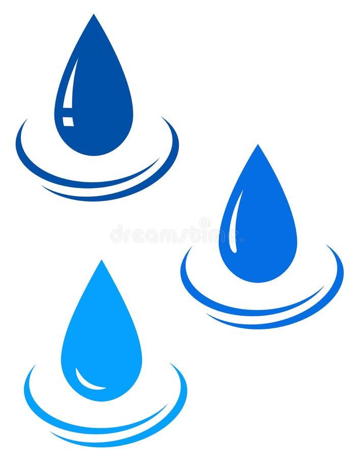 Reeks waterdalingen royalty-vrije illustratie