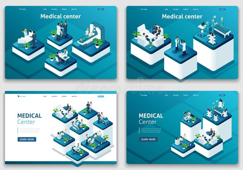 Reeks webpaginaontwerpsjablonen voor zaken, analytisch, SEO-optimalisering, bedrijfs planning, Co-het werken centrum vector illustratie