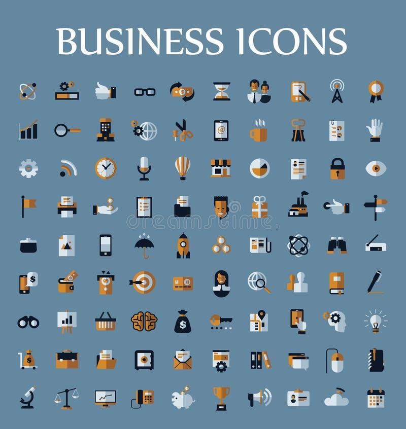 Reeks Webpictogrammen voor zaken, mededeling en vector illustratie