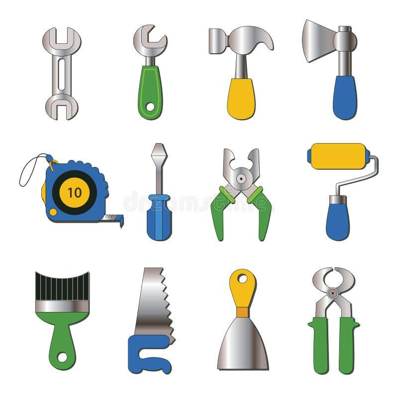 Download Reeks Werkende Hulpmiddelenpictogrammen Vector Illustratie - Illustratie bestaande uit illustratie, bouw: 39103648
