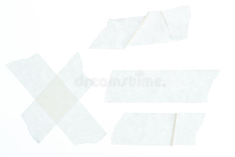 Reeks witte afplakbandstukken royalty-vrije stock afbeelding