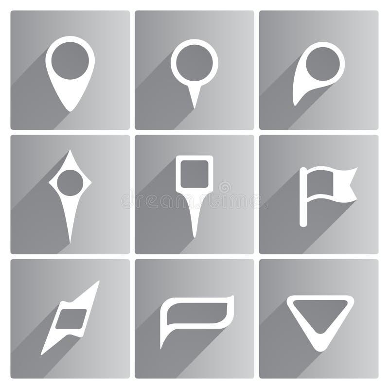 Reeks witte wijzers vector illustratie