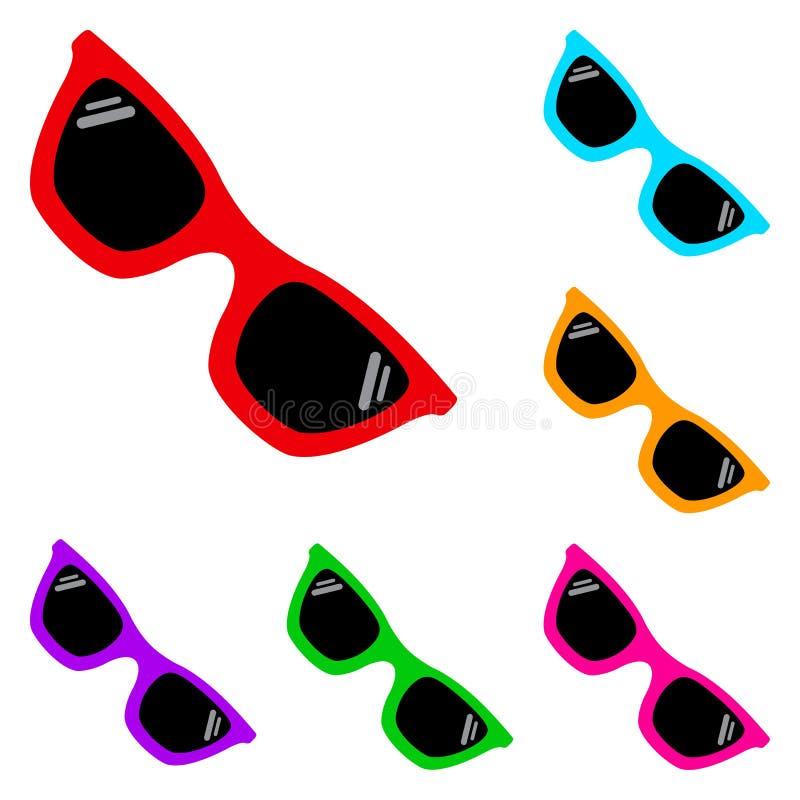 Reeks zonnebril Vector illustratie vector illustratie