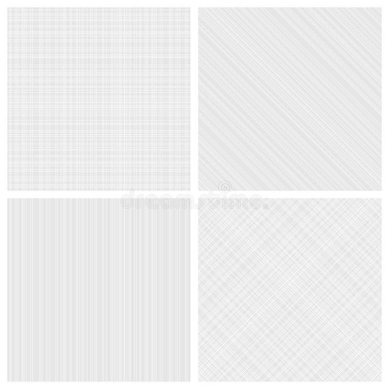 Reeks zwart-wit broedsel naadloze patronen stock illustratie