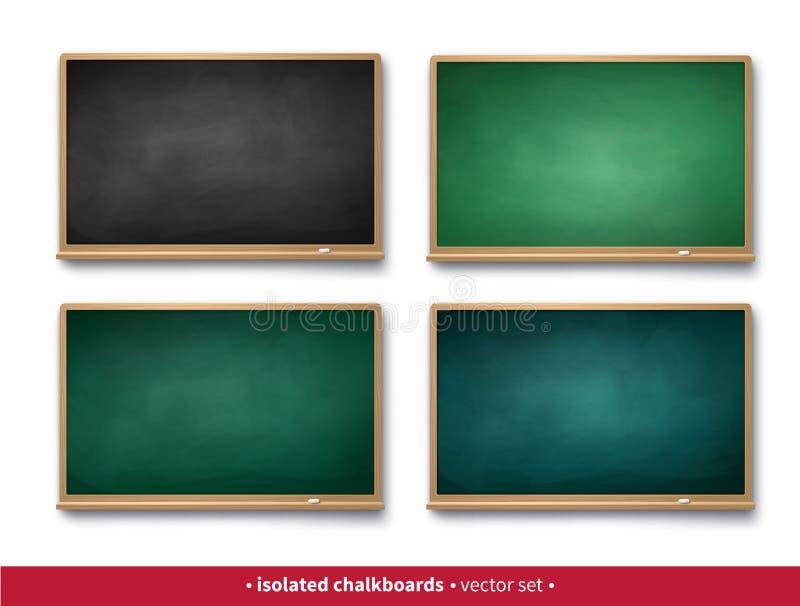 Reeks zwarte en groene horizontale borden stock illustratie