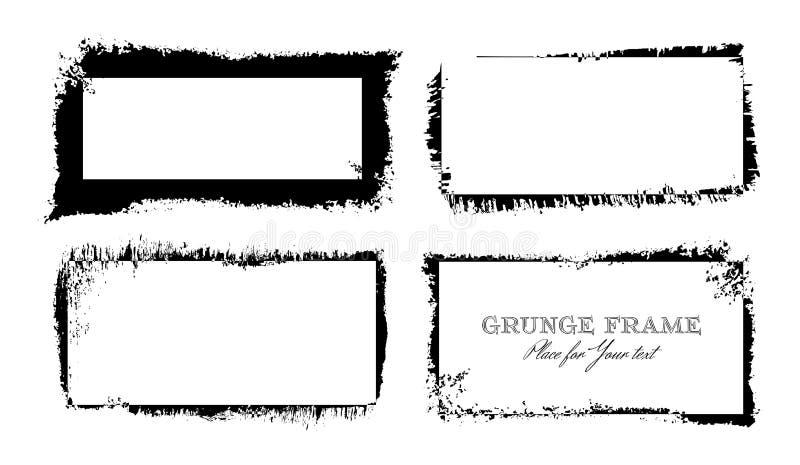 Reeks zwarte slagen van de inktborstel stock illustratie