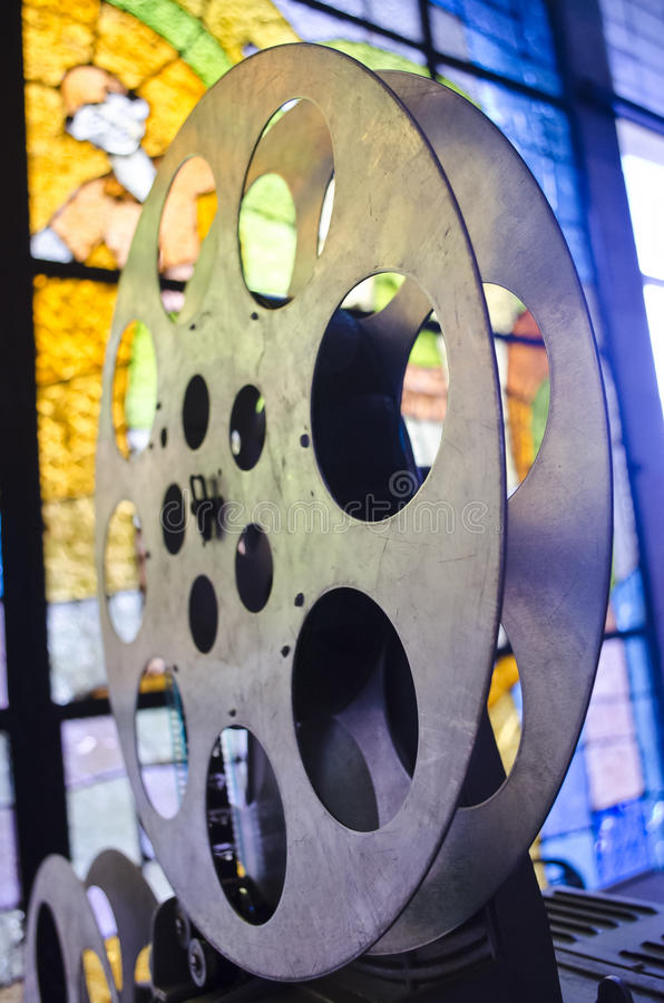 16mm Reel Movie Projectors: Retro Movie Camera 8mm 16mm Stock Image