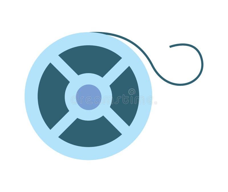 Reel of film strip icon. Cinema produce illustration isolated on white background vector illustration