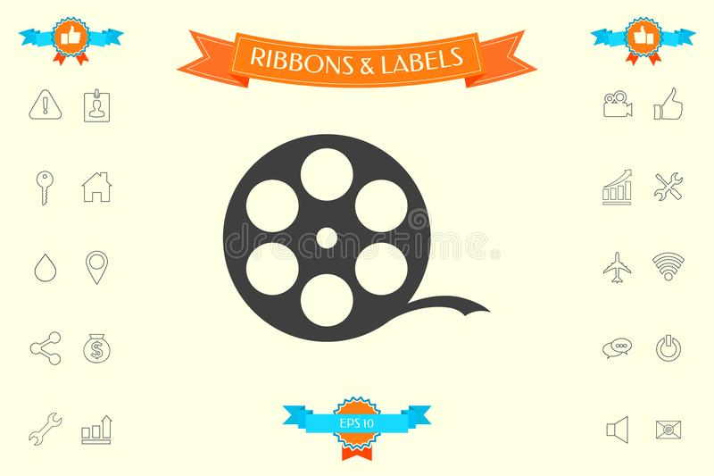 Reel film symbol. Signs and symbols - graphic elements for your design vector illustration