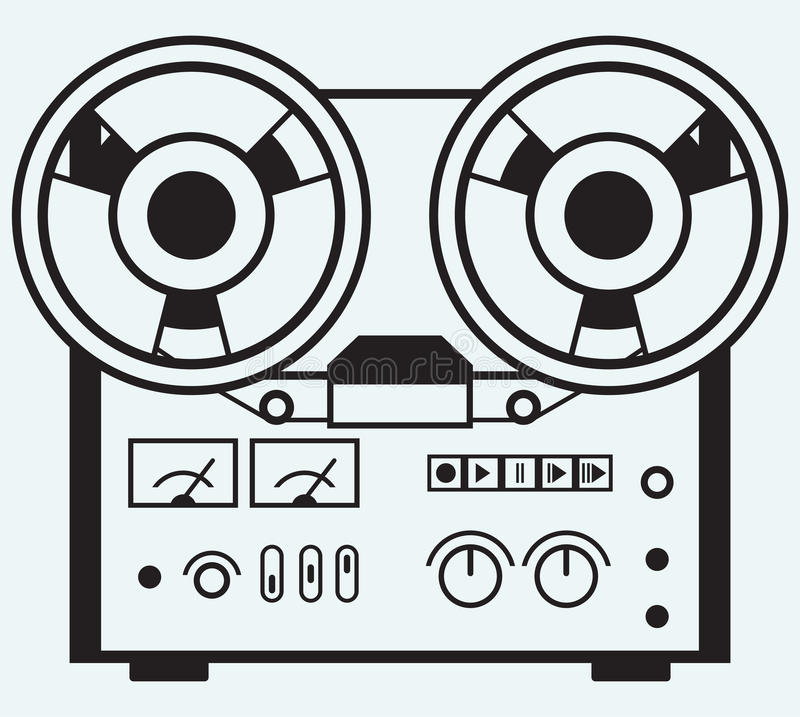 Reel tape recorder vector illustration
