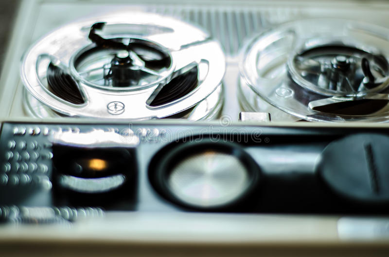 Reel to Reel tape recorder. A vintage portable reel to reel tape recorder stock photography