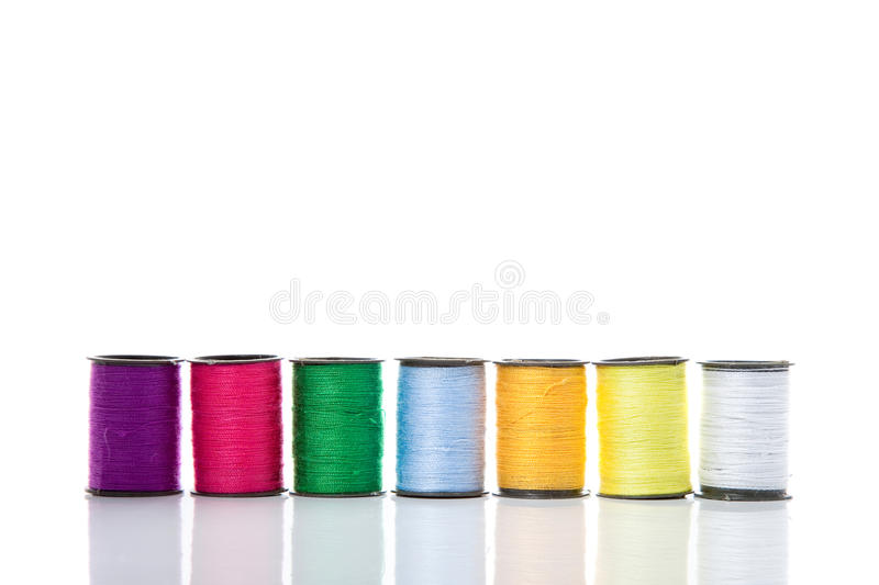 Reels of cotton royalty free stock photo
