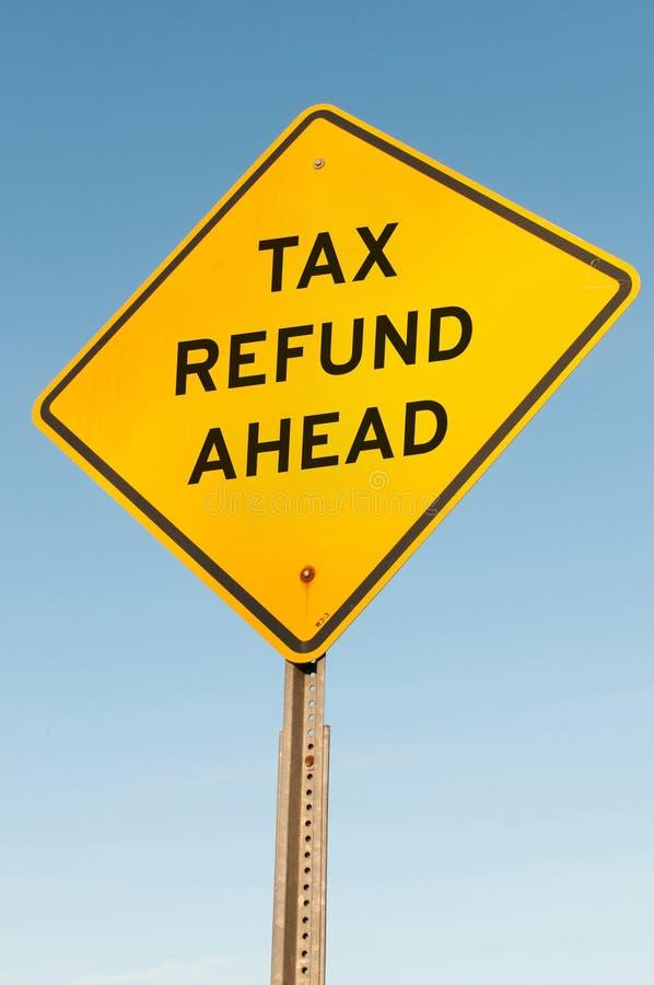 Reembolso del impuesto a continuación fotografía de archivo libre de regalías
