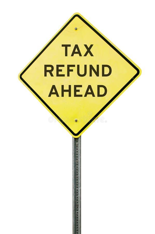 Reembolso del impuesto a continuación fotos de archivo libres de regalías