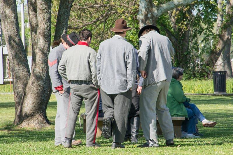 Reenactment гражданской войны стоковое изображение rf