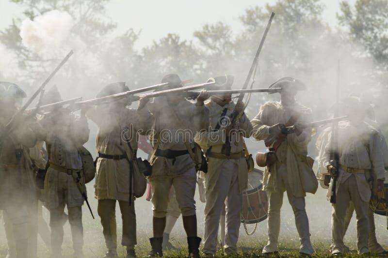 Reenactment нападения на редутах 9 & 10 стоковая фотография rf