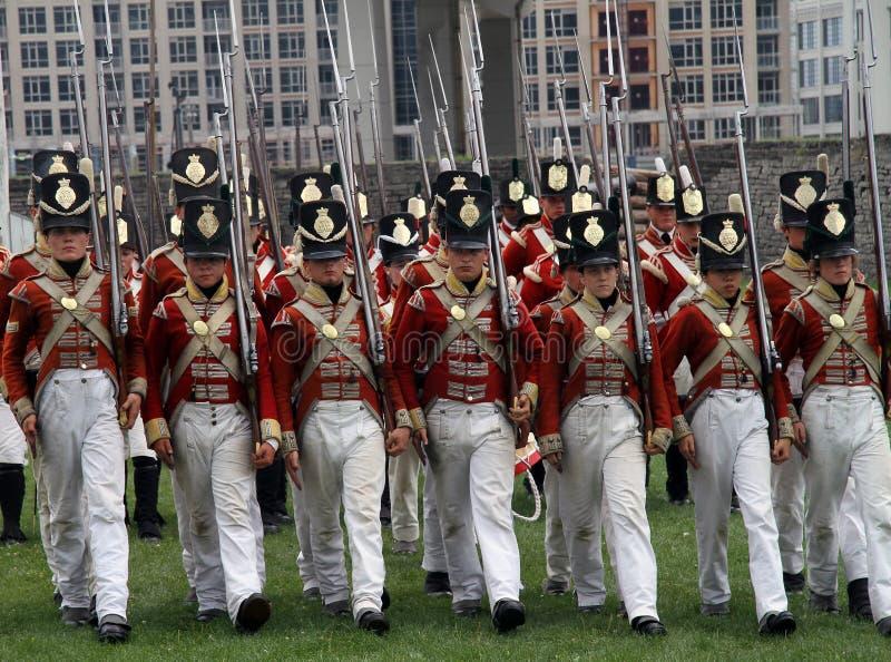 reenactment 1812 kriger arkivfoton