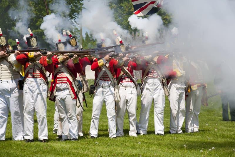 reenactment 1812 kriger arkivbilder