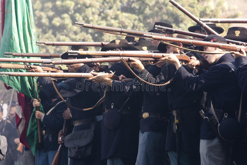 Reenactment 47 da guerra civil de Moorpark imagem de stock