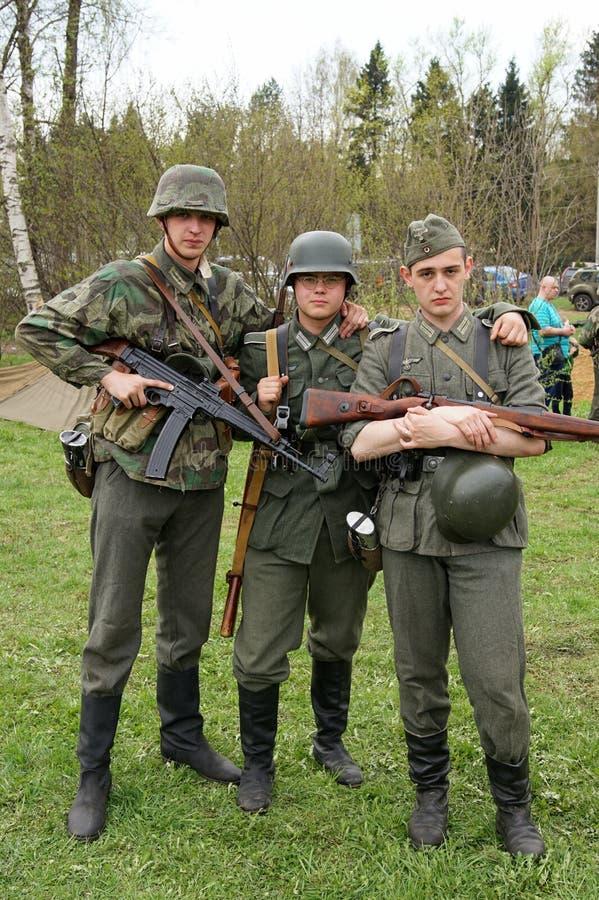 Reenactment av händelser för världskrig II arkivfoton