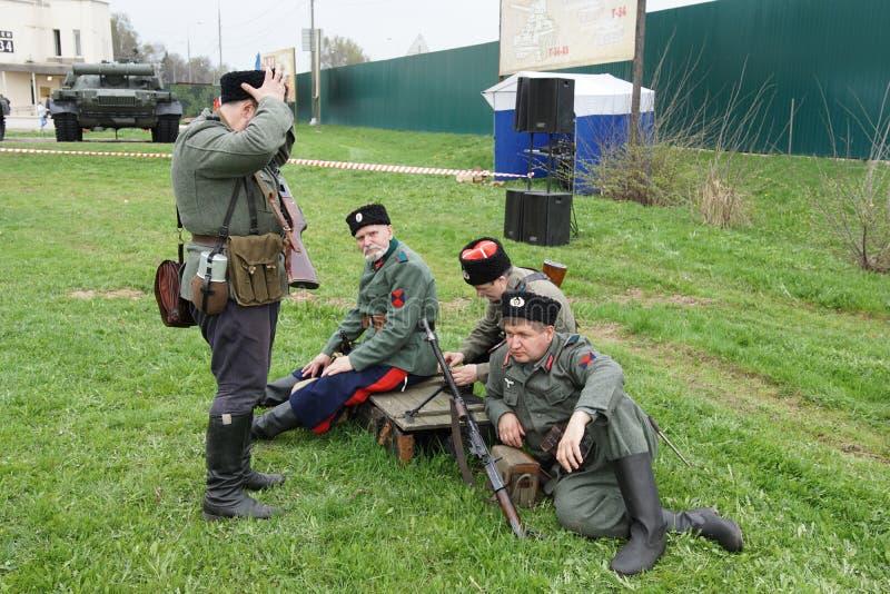 Reenactment av händelser för världskrig II arkivbild