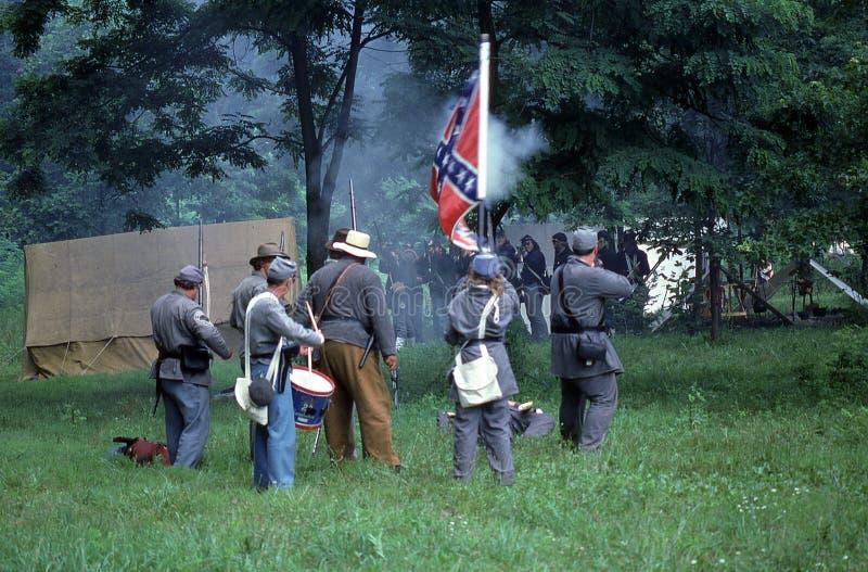 Reenactment da guerra civil foto de stock royalty free