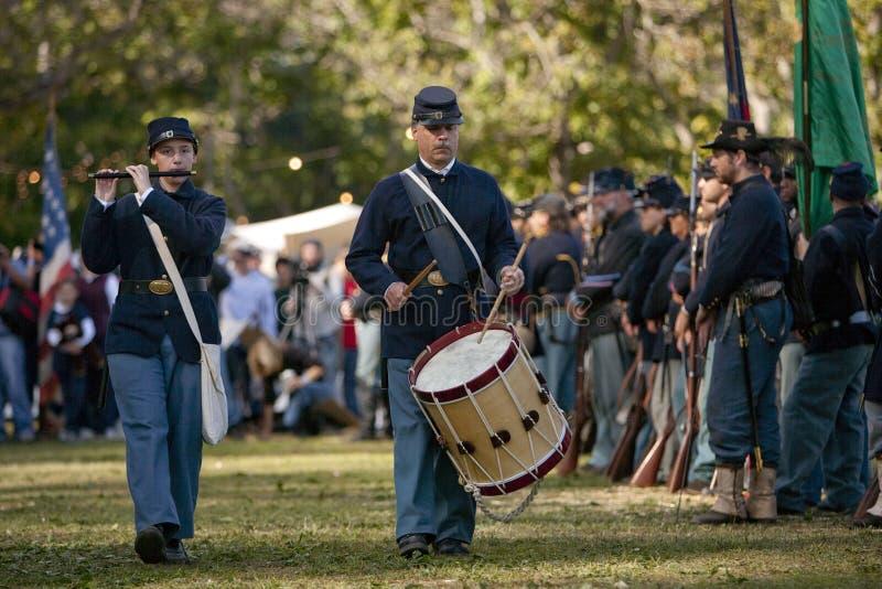 Reenactment da guerra civil de Moorpark foto de stock royalty free