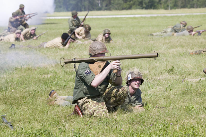 Reenactment da segunda guerra mundial foto de stock royalty free