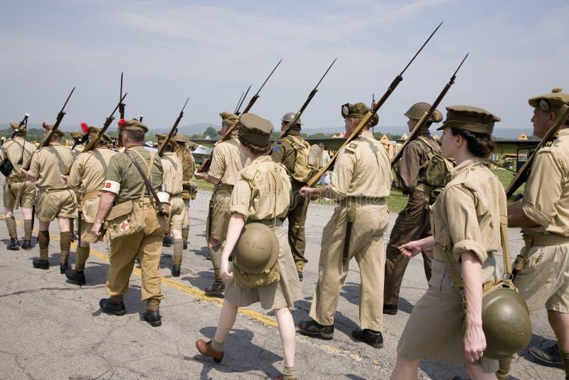 Reenactment da segunda guerra mundial fotos de stock royalty free