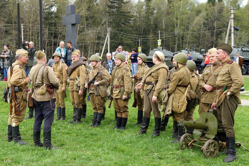 Reenactment de eventos da segunda guerra mundial foto de stock royalty free
