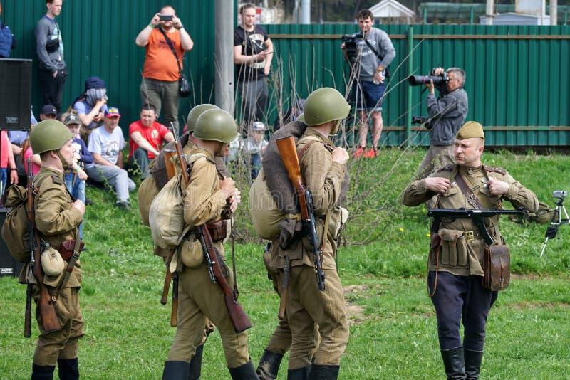 Reenactment drugich wojn światowa wydarzenia obraz stock