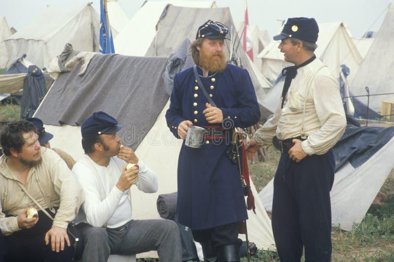 Reenactment histórico da batalha de Manassas, marcando o começo da guerra civil, Virgínia imagem de stock royalty free