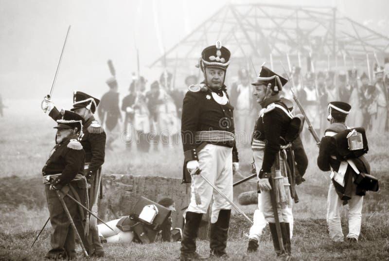 Reenactment histórico de Borodino 2012 imagens de stock