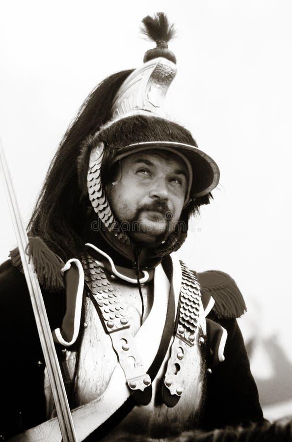 Reenactment histórico de Borodino 2012 imagem de stock royalty free