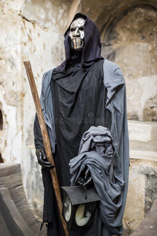 Reenactment histórico de Charon, ferryman de Hades que carr foto de stock royalty free