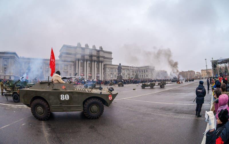 Reenactment nea Москвы сражения в 1941 стоковая фотография