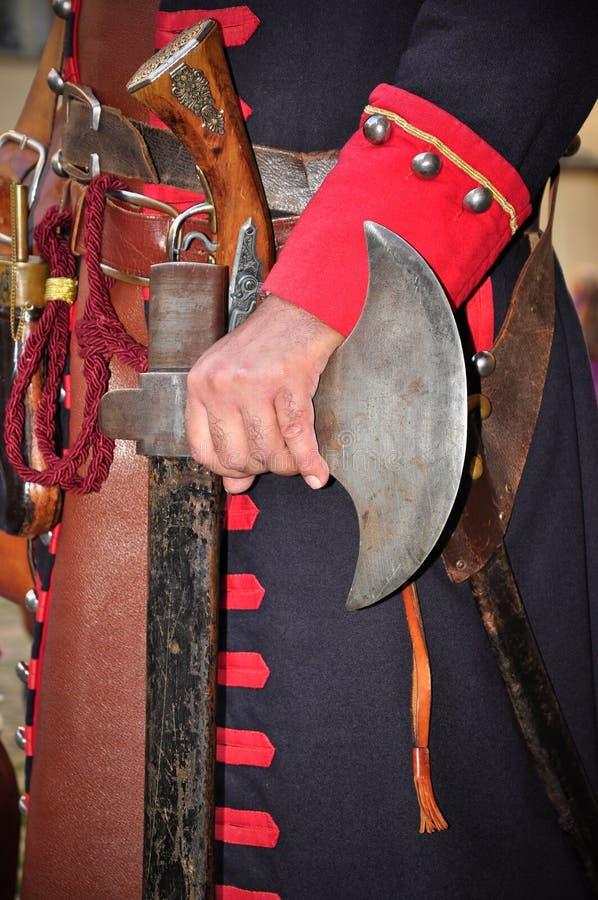 reenactmentseptember siege 1706 turin royaltyfri foto