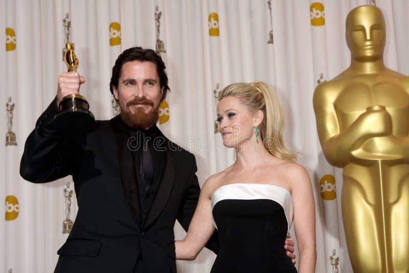 Reese Witherspoon, Christian Bale lizenzfreies stockfoto