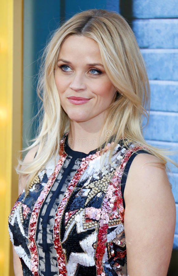 Reese Witherspoon. At the Los Angeles premiere of `Sing` held at the Microsoft Theater in Los Angeles, USA on December 3, 2016 royalty free stock image