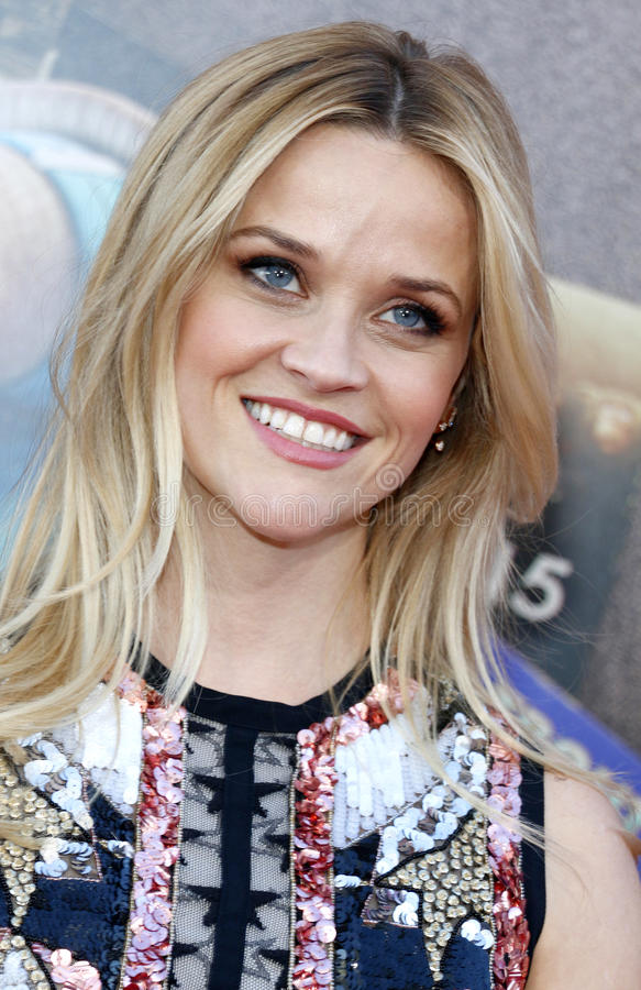 Reese Witherspoon. At the Los Angeles premiere of `Sing` held at the Microsoft Theater in Los Angeles, USA on December 3, 2016 stock photo