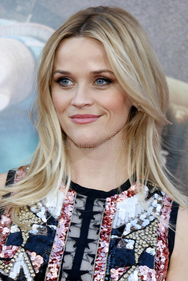 Reese Witherspoon. At the Los Angeles premiere of `Sing` held at the Microsoft Theater in Los Angeles, USA on December 3, 2016 stock photos