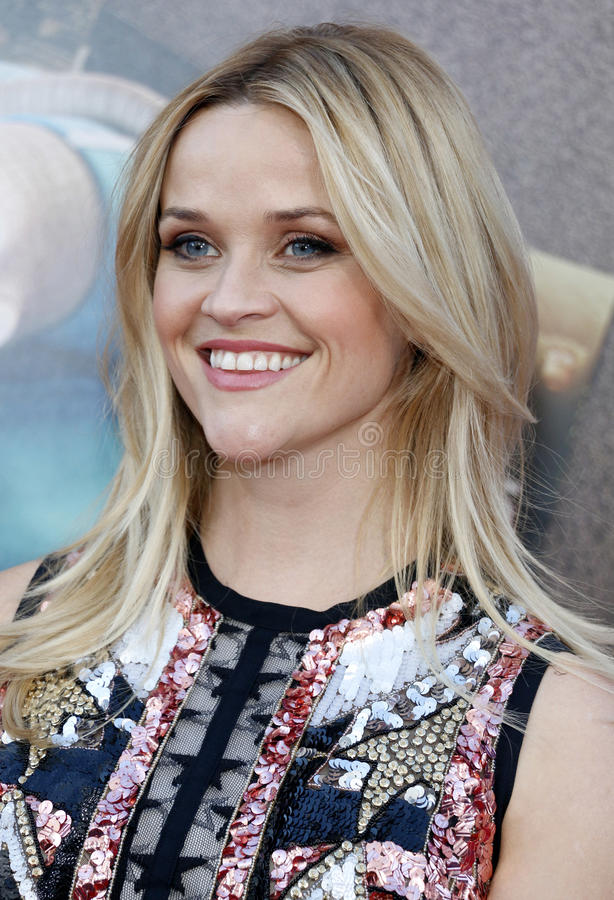Reese Witherspoon. At the Los Angeles premiere of `Sing` held at the Microsoft Theater in Los Angeles, USA on December 3, 2016 royalty free stock photo