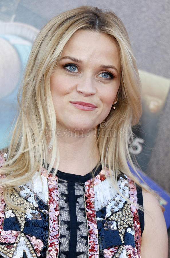 Reese Witherspoon. At the Los Angeles premiere of `Sing` held at the Microsoft Theater in Los Angeles, USA on December 3, 2016 stock photography