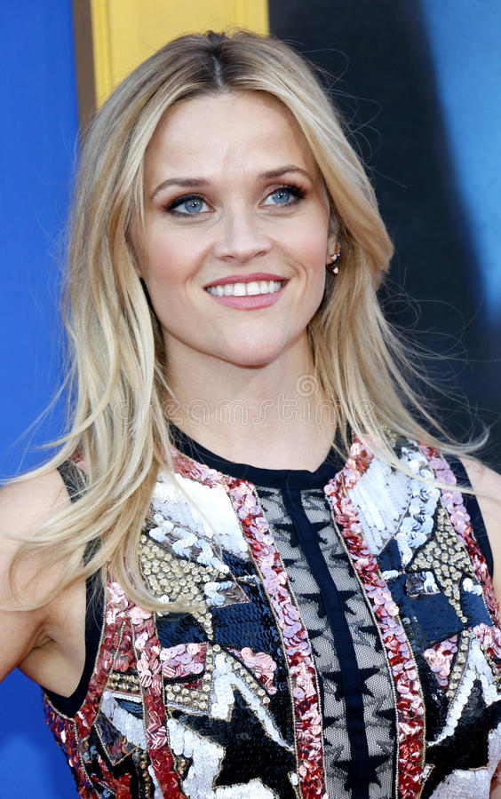 Reese Witherspoon. At the Los Angeles premiere of `Sing` held at the Microsoft Theater in Los Angeles, USA on December 3, 2016 stock image